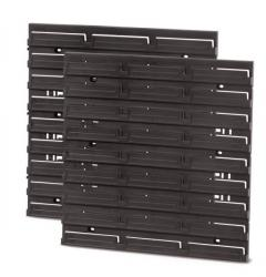 PlasticFuture Montážní panel BINEER BOARD 2 ks 38,6x1,8x39 cm černý