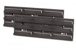 PlasticFuture Montážní panel BINEER BOARD 2 ks 38,6x18x13 cm černý