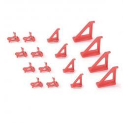 PlasticFuture Sada držáků na montážní panely BINEER HOOKS 16 ks červené