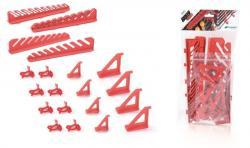 PlasticFuture Sada držáků na montážní panely BINEER HOOKS 20 ks červené