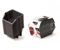 PlasticFuture Sada úložných boxů BINEER SHORT 10 ks 18x9,8x11,8 cm černé