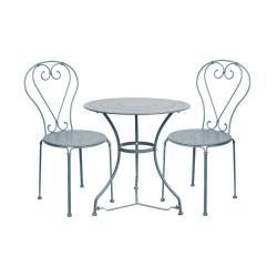 CENTURY Set zahradního nábytku 2 ks židle a 1 ks stůl - šedá