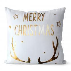 Domarex Povlak na polštářek Merry Christmas bílá, 45 x 45 cm