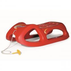 Rolly Toys Plastové sáně červená, 45 x 96 cm