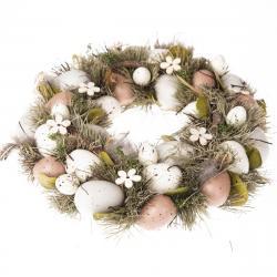 Velikonoční věnec s vajíčky Pavia, 31 cm