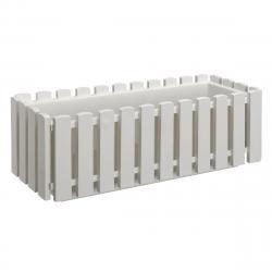 PLASTKON Truhlík FENCY plastový bílý - 50 x 18,5 cm