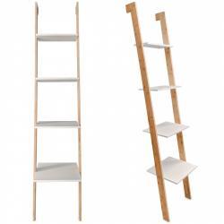 MODERNHOME Bambusový regál Knoll bílo-hnědý