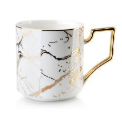 DekorStyle Porcelánový hrníček Cristie 360ml bílo-zlatý