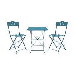 DAISY JANE Set zahradního nábytku pro 2 osoby - sv. modrá