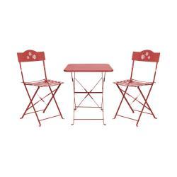 DAISY JANE Set zahradního nábytku pro 2 osoby - červená