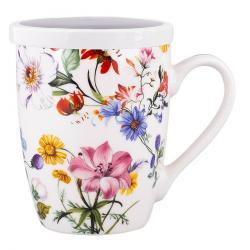 Altom Porcelánový hrnek s víkem Blooming, 300 ml