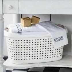 Kos na čisté prádlo PAGLIA 40 l, bílá