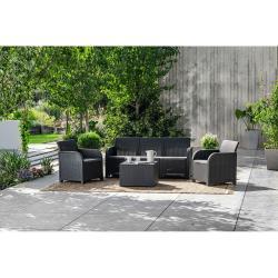 Tmavě šedý zahradní set Keter Rosali