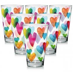 Mäser Sada sklenic Love Rainbow 310 ml, 6 ks