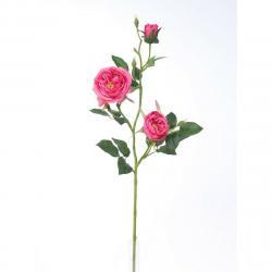 Umělá anglická růže růžová, 69 cm
