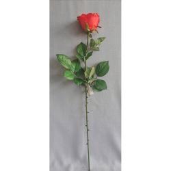 Umělá růže červená, 69 cm