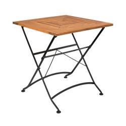 GARDEN STATE Skládací stůl 70 x 70 cm - hnědá/černá