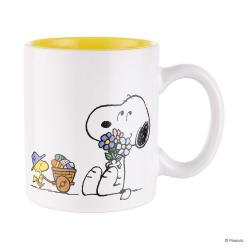 PEANUTS Sada hrnečků Snoopy květiny 330 ml set 4 ks