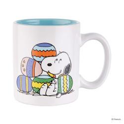 PEANUTS Sada hrnečků Snoopy smíšek 330 ml set 4 ks