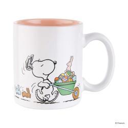 PEANUTS Sada hrnečků Snoopy s vozíkem 330 ml set 4 ks