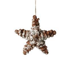 HANG ON Ozdoba šišky ve tvaru hvězdy