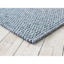 Ocelově šedý kuličkový vlněný koberec Wooldot Ball Rugs, ⌀ 100 x 150 cm