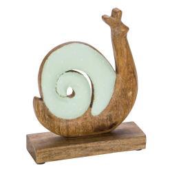 Dřevěná velikonoční dekorace se zelenými detaily Ego Dekor Snail