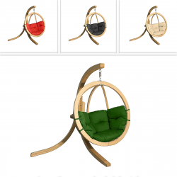 DEOKORK Houpací křeslo ZITA s nohami (různé barvy) terakotta