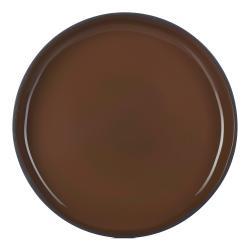 Jídelní talíř GOURMET hnědý Tonka CARACTERE