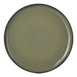 Dezertní talíř khaki Cardamon CARACTERE