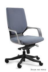 UNIQUE Kancelářská židle Apollo M, šedá/modrá