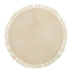 Béžový vlněný koberec Bloomingville Nature, ⌀ 110 cm