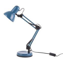 Modrá stolní lampa s černými detaily Leitmotiv Hobby,ø12,5cm
