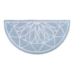 Modrá půlkruhová rohožka z kokosového vlákna PT LIVING Fairytale coir