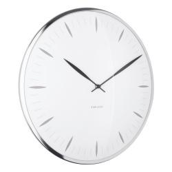 Bílé skleněné nástěnné hodiny Karlsson Leaf,ø40cm