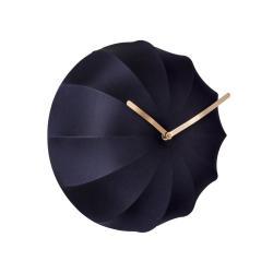 Tmavě modré nástěnné hodiny Karlsson Stretch,ø40 cm