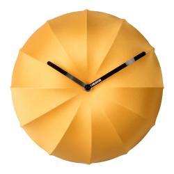 Žluté nástěnné hodiny Karlsson Stretch,ø40 cm