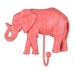 Korálově růžový věšák Leitmotiv Elephant