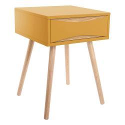 Žlutý noční stolek Leitmotiv Cabinet Buoyant