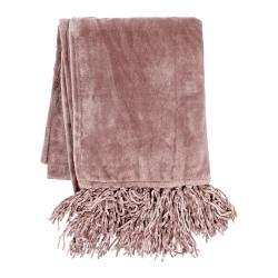 Růžová mikroplyšová deka Tiseco Home Studio Tassels,220x240cm
