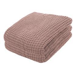 Růžový bavlněný lehký přehoz přes postel Tiseco Home Studio,250x260cm