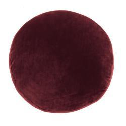 Červený dekorativní polštář z mikrovlákna Tiseco Home Studio Marshmallow,ø40cm