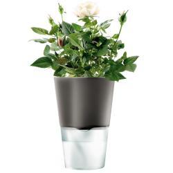Samozavlažovací květináč tmavě šedá O 11 cm Eva Solo