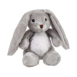 LEA Plyšový zajíček 21 cm - šedá