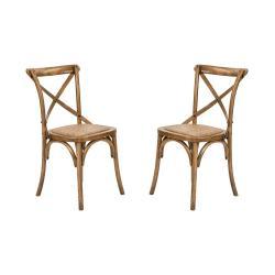 CROSS COUNTRY Židle set 2 ks - hnědá