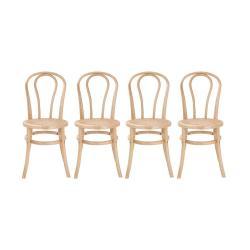 WIENER MELANGE Židle 90 cm set 4 ks