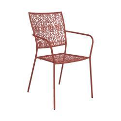 NANCY Židle s područkami - tm. červená