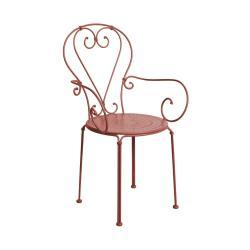 CENTURY Zahradní židle s područkami - tm. červená