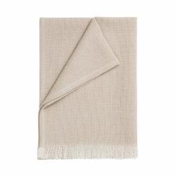VISBY Utěrka s třásněmi 70 cm - přírodní/bílá