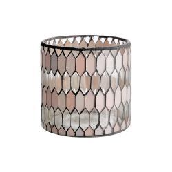 SHIMMER&SHINE Svícen na čajovou svíčku 10 cm - pastelově červená